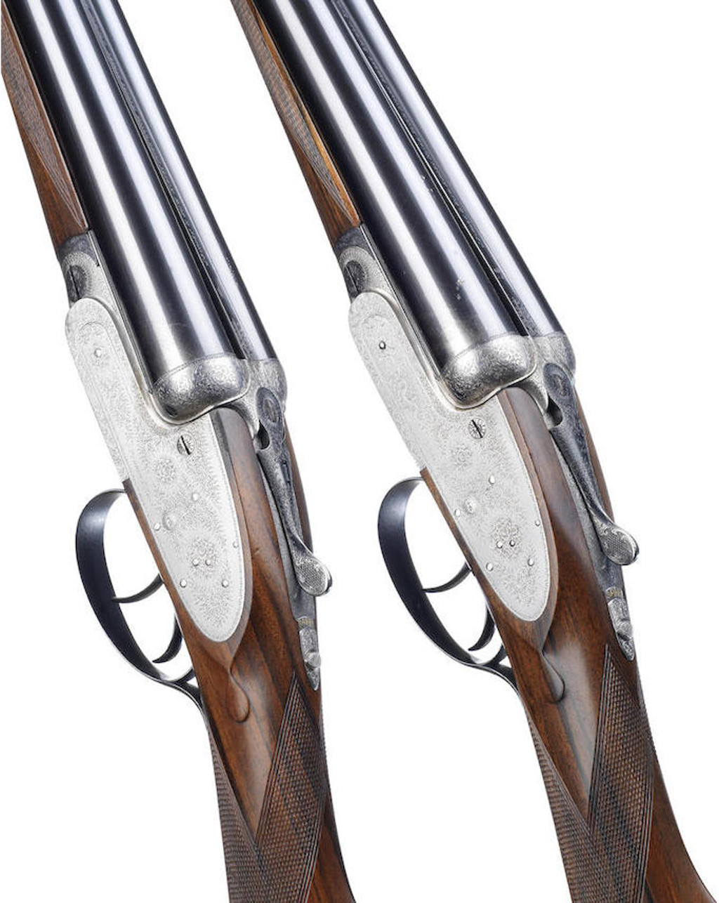 A pair of 12-bore self-opening sidelock ejector guns by J. Purdey & Sons, no. 15773-4