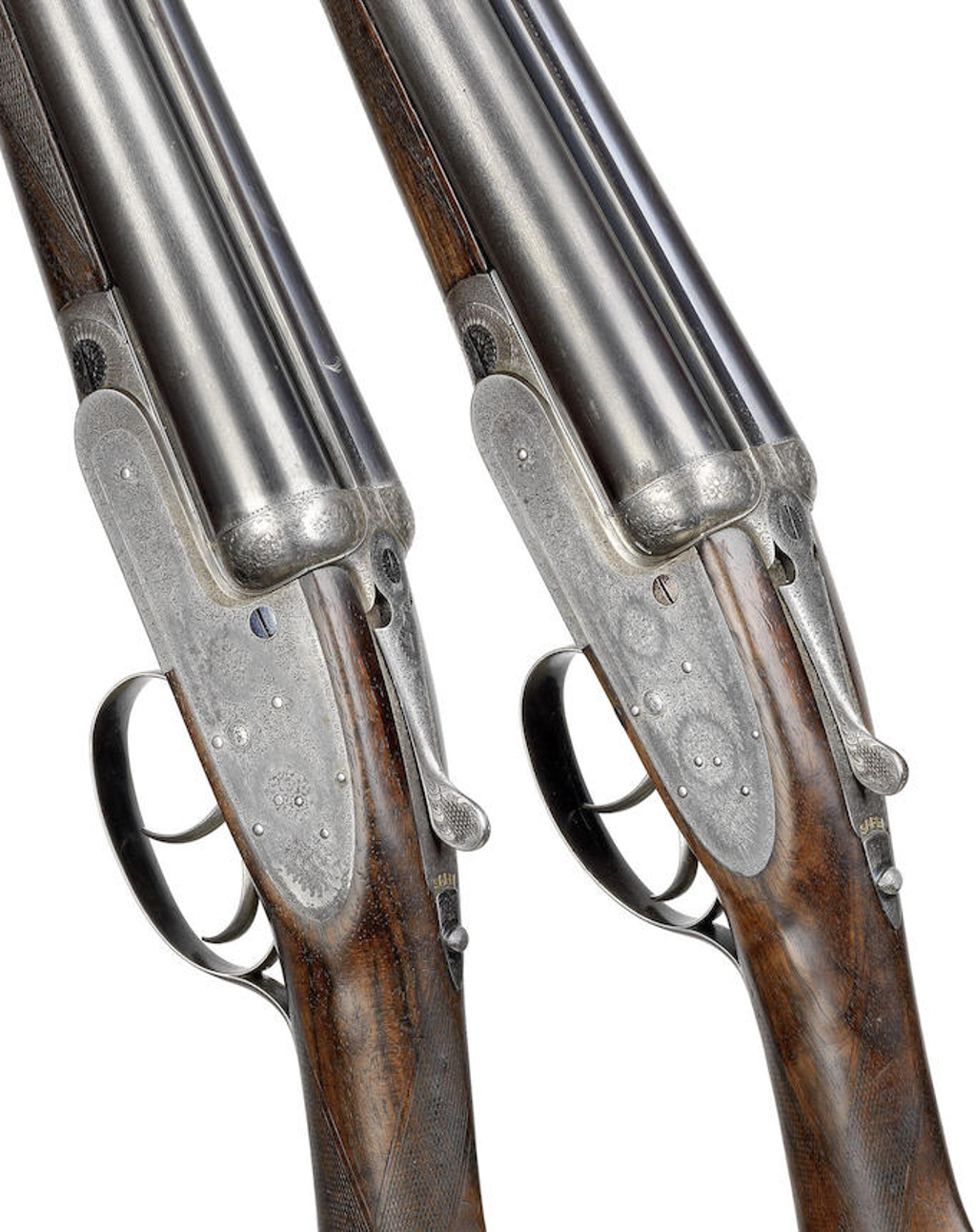 A pair of 12-bore self-opening sidelock ejector guns by J. Purdey & Sons, no. 15824-5