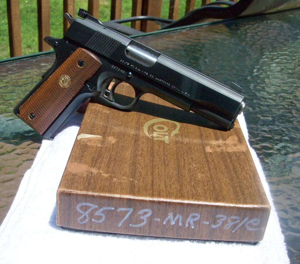 This Colt is identical with the author's Gold Cup, complete with deep polished bluing on the sides and frame and matte finish on top. (Picture courtesy rdiflorio@photobucket.com)