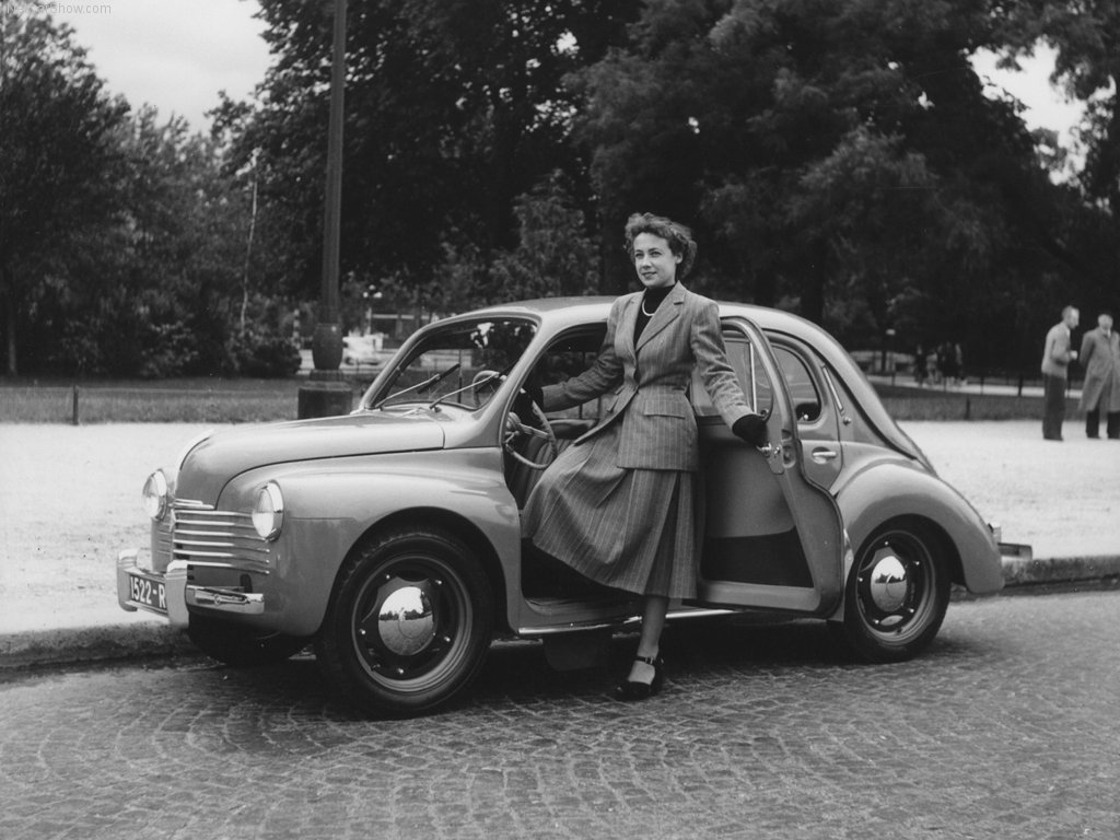 1948 picture of a Renault 4CV which Dr. Ferdinand Porsche had been required to assist with. (Picture courtesy netcarshow.com)