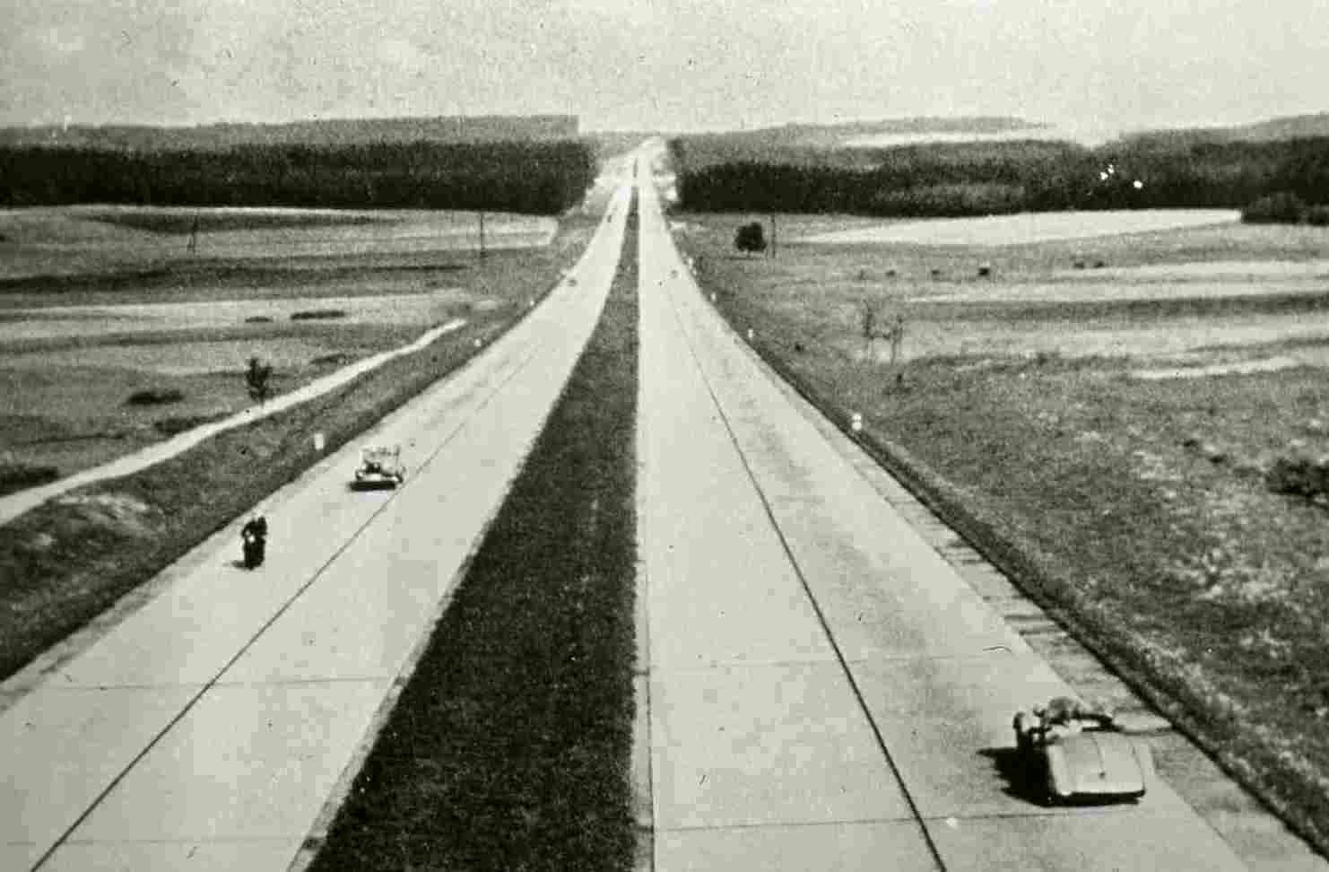 In the post Depression era Germany was building a national network of high speed roads called Autobahns. Like the Roman Roads of ancient times these Autobahns were strategic as well as being useful to the public. These were the roads for the Volkswagens.