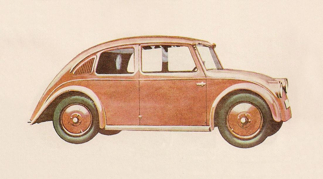The still born Tatra V570. The car that caught Adolf Hitler's eye. (Picture courtesy heinkelscooter.blogspot.com.au