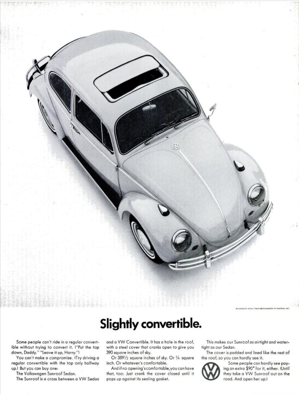 Comparing the Ford advertisement and the Volkswagen one we see the attraction of the small car - its just not about showmanship. (Picture courtesy buzzfeed.com)