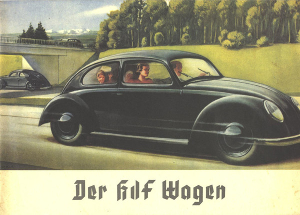 "The Nazis wanted to create a ""Super Race"" of strong healthy people with homes, jobs, and a car to enjoy the network of Autobahns that were being constructed. (Picture courtesy humster3d.com)"