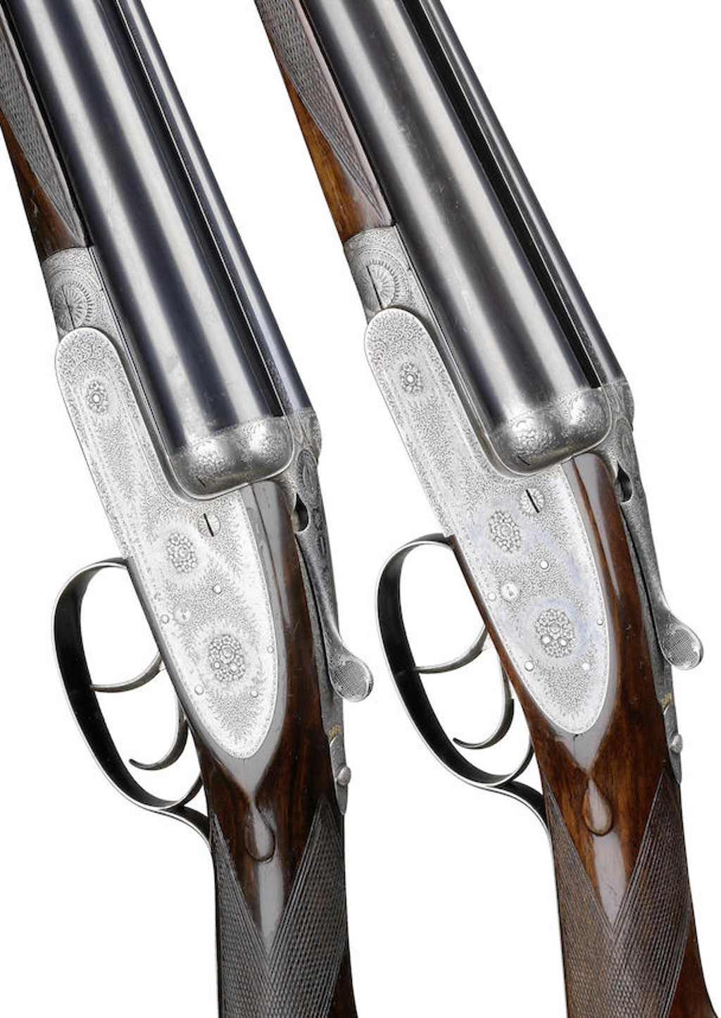 pair of 12-bore self-opening sidelock ejector guns by J. Purdey, no. 18430-1