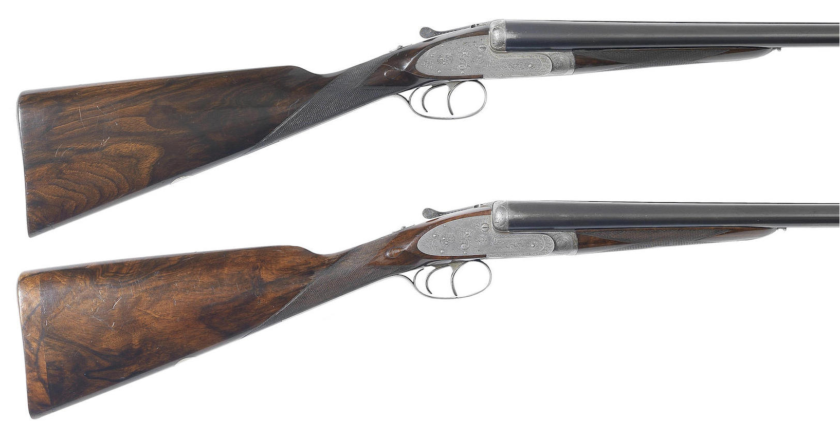 pair of 12-bore self-opening sidelock ejector guns by J. Purdey, no. 18430-1a