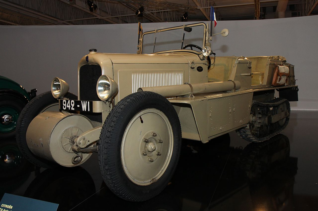 A Citroën AC4 half track military vehicle. (Picture courtesy wikimedia).