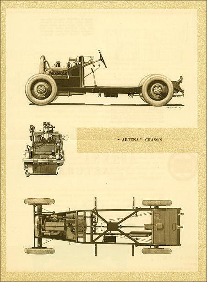 The Lancia Artena chassis as illustrated in Lancia's 1931 catalogue. (image courtesy classiccarcatalogue.com)