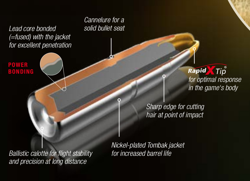 The RWS EVO bullet is designed for penetration of heavy game. (Picture courtesy RWS).