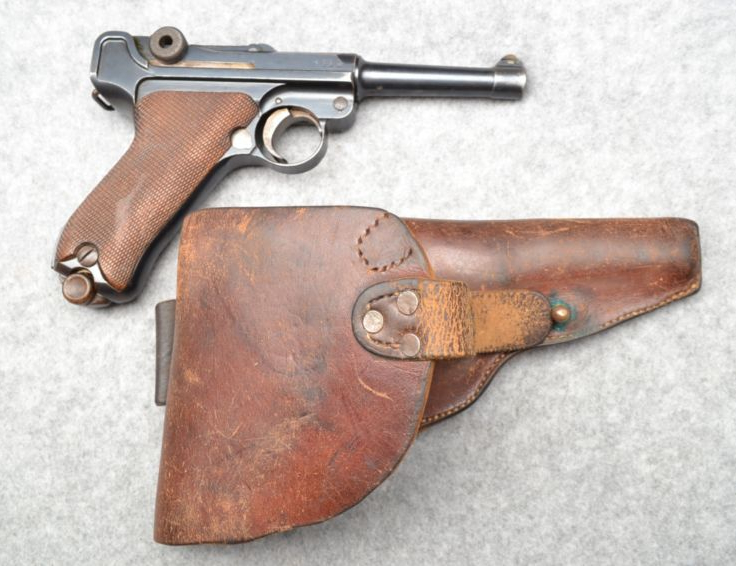 This World War I vintage DWM Luger P-08 has matching numbers and the original holster. (Picture courtesy Cabela's).