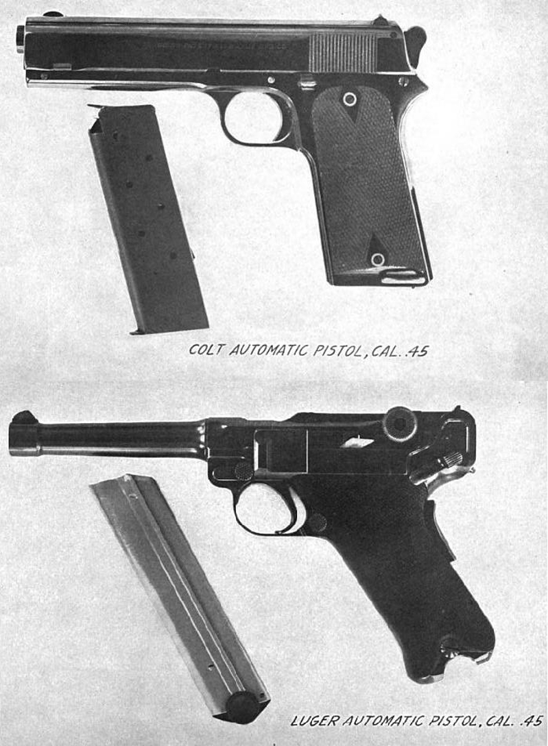 "The fabled DWM made .45 ACP Luger, of which only two were originally made, became a ""million dollar handgun"". (Picture courtesy wikimedia)."