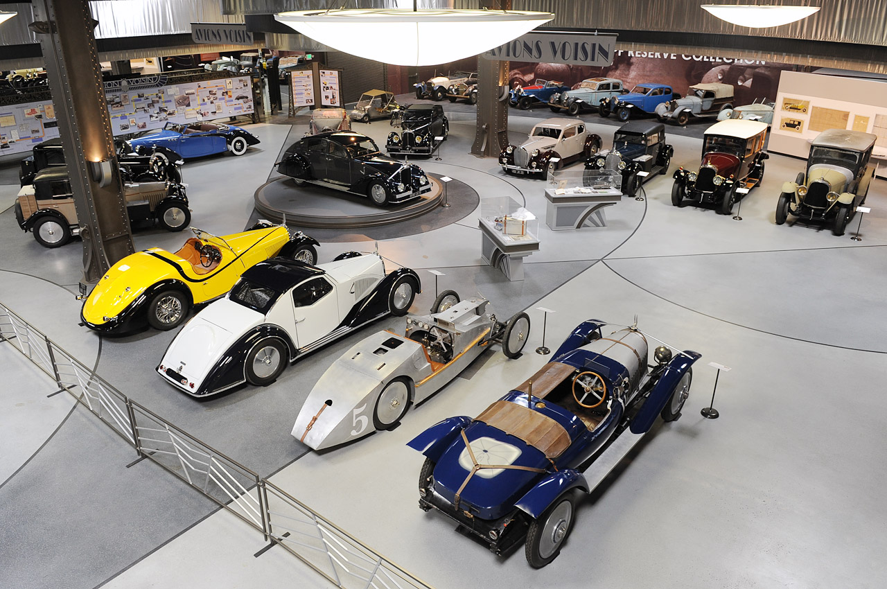 The Voisin collection at the Mullin Museum in Oxnard, CA. (Picture courtesy autoblog.com)