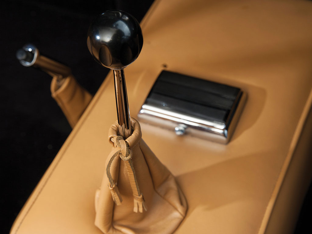 Being a sixties vintage luxury car the 250 GT has a cigar lighter that was not installed so one could connect one's iPhone. (Picture courtesy RM Sotherby's).