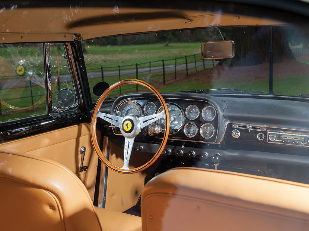 "The interior of a car is often its main selling point and the interior of this 250 GT Pinin Farina is every inch a gentleman's ""office"". (Picture courtesy RM Sotherby's)."