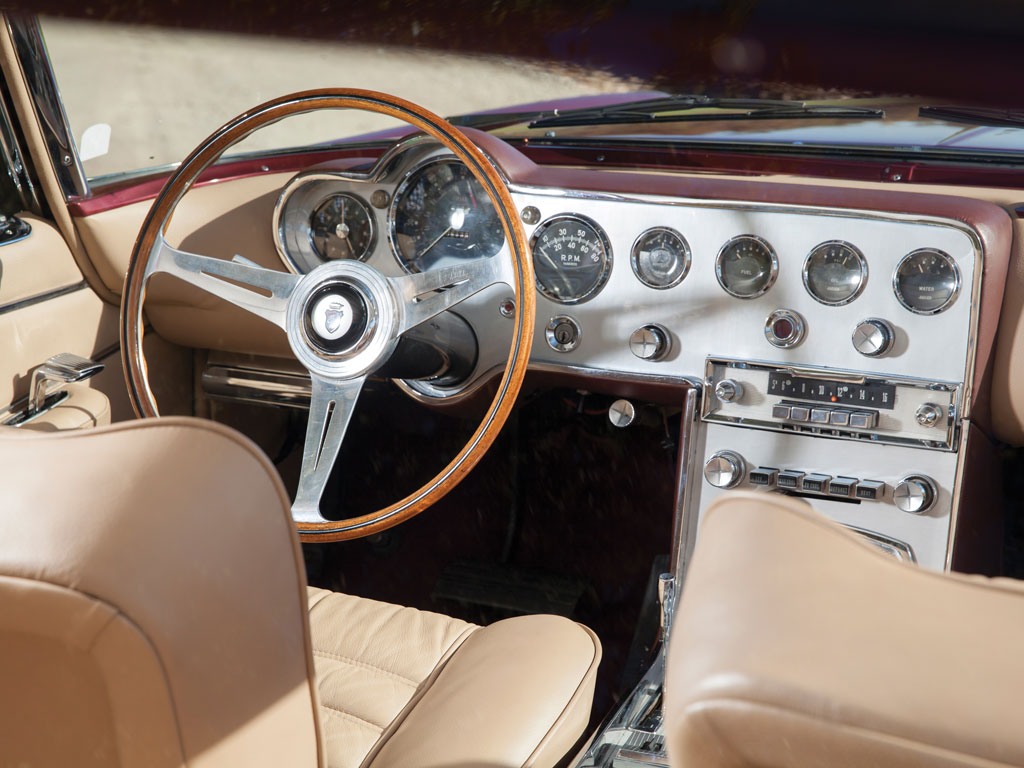 In its upgrading in becoming an exclusive Ghia product the Ghia L6.4 received upgraded instrumentation and wood rimmed Nardi steering wheel. (PIcture courtesy RM Sotherbys).