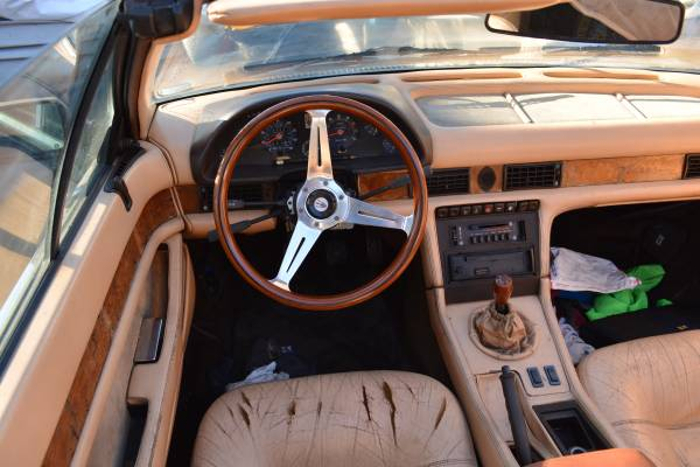 The Maserati Biturbo featured beautiful interior trim and this was true of the Zagato Spyder. Even with cracked leather seats we can still appreciated just how gorgeous this car would have looked on the showroom floor. (Picture courtesy Craigslist).