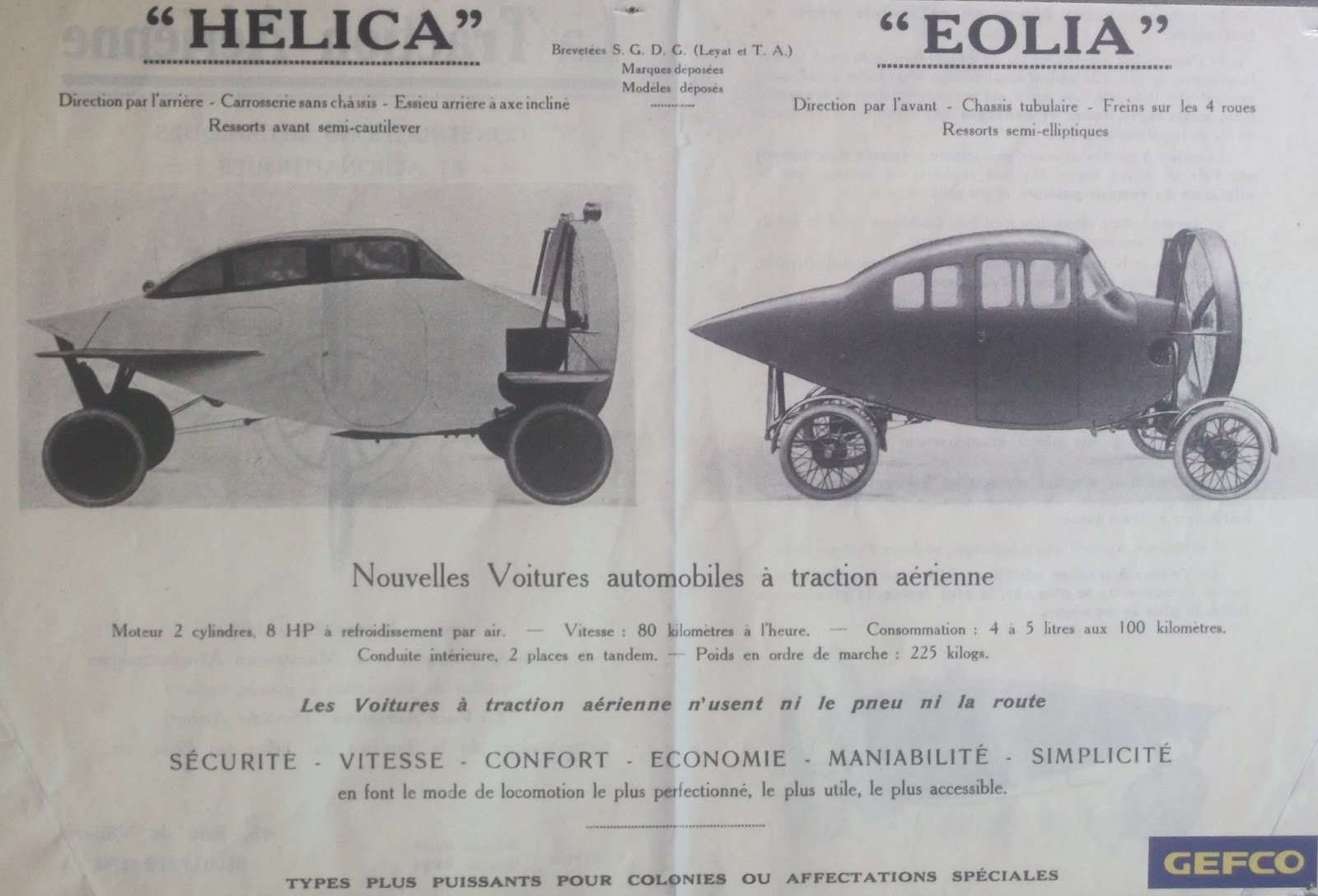 Saloon body styles from a Hélica advertisement. (Picture courtesy challengehelica.blogspot.com.au).