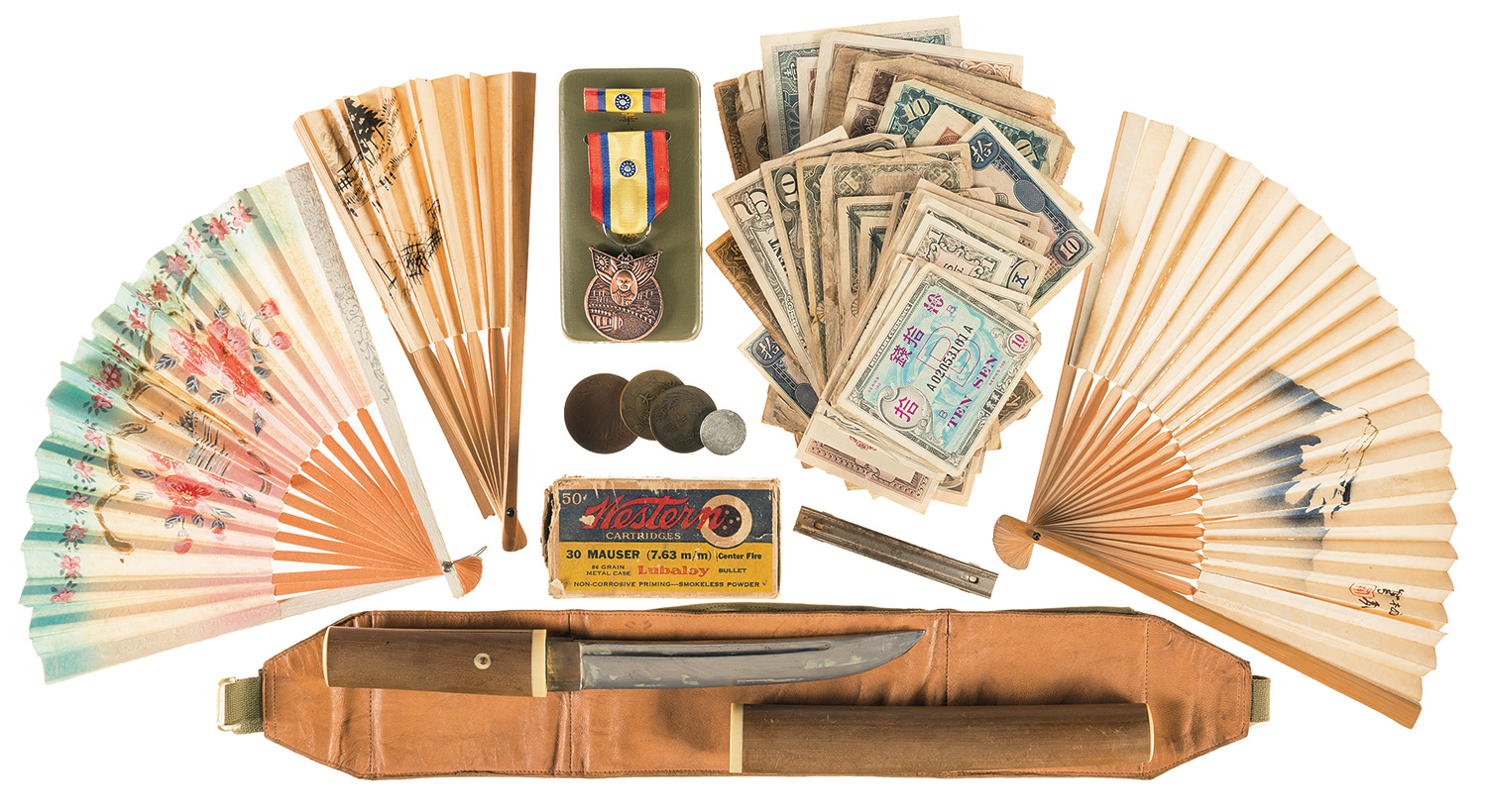 Memorabilia included with the pistol. (Picture courtesy Rock Island Auction).