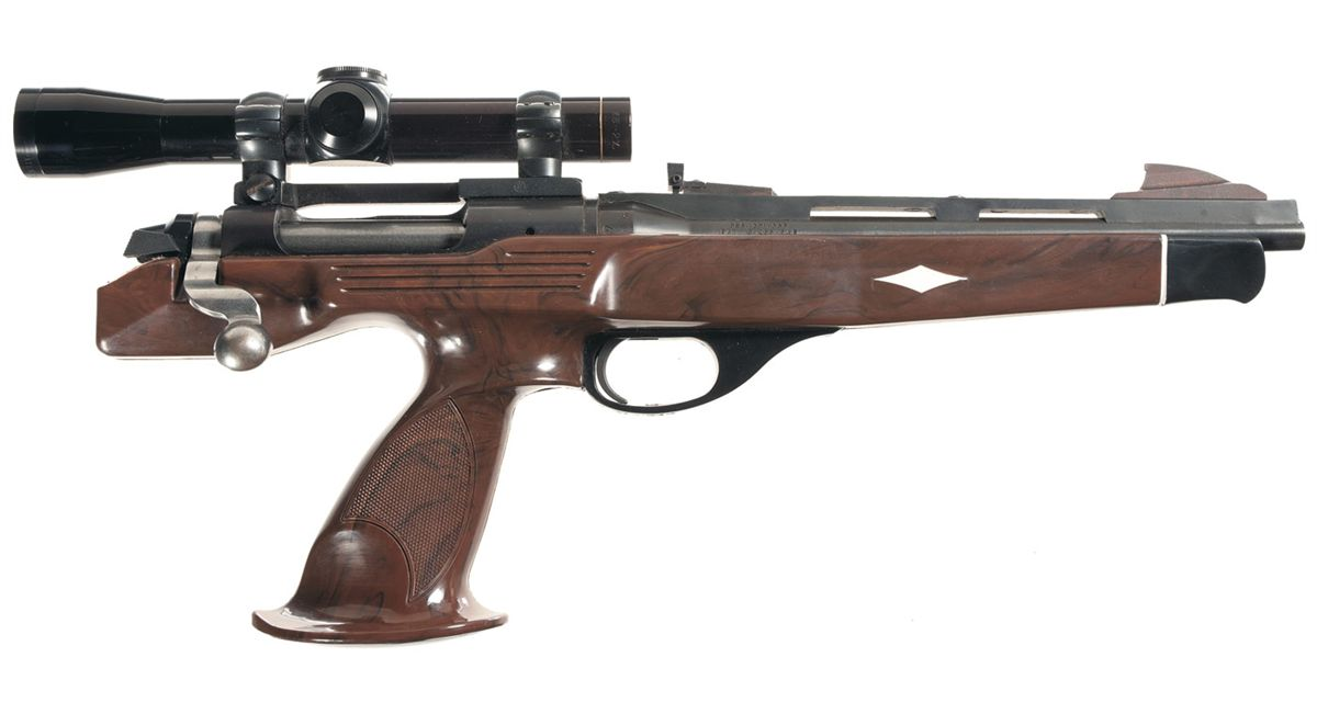 Original Remington XP-100 fitted with Leupold rifle-scope. (Picture courtesy icollector.com).