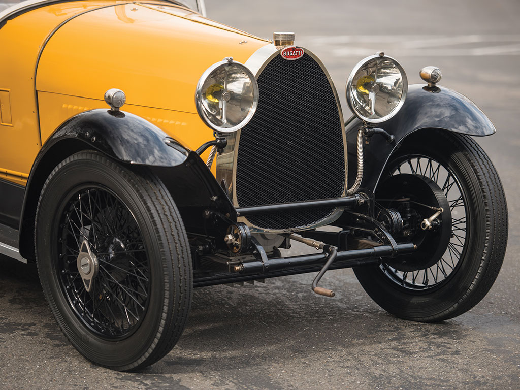 "Sometimes starting our old Bugatti involves a crank handle and a ""labour of love"". (Picture courtesy RM Sotherby's)."