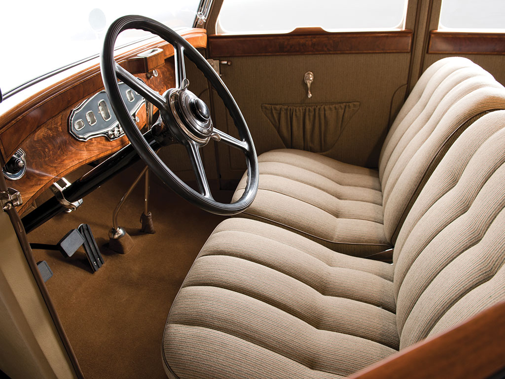 The luxury Stutz has an elegantly restrained interior and a three speed transmission reducing complication. (Picture courtesy RM Sotherby's).