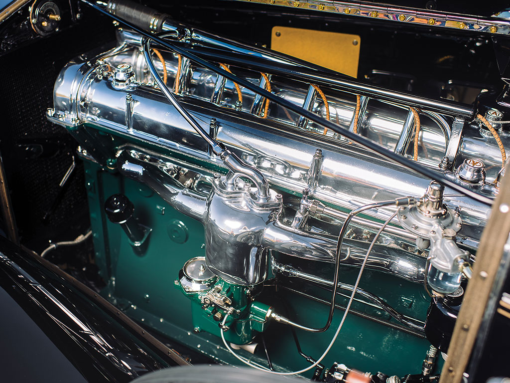 The Stutz DV-32 engine was the state of the art straight eight engine, the best Stutz ever made. (Picture courtesy RM Sotherby's).