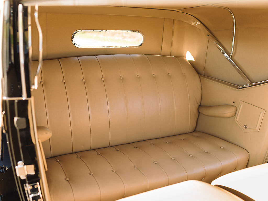 The rear seats are where most people would experience the luxury of the Rollston coachwork. (Picture courtesy RM Sotherby's).