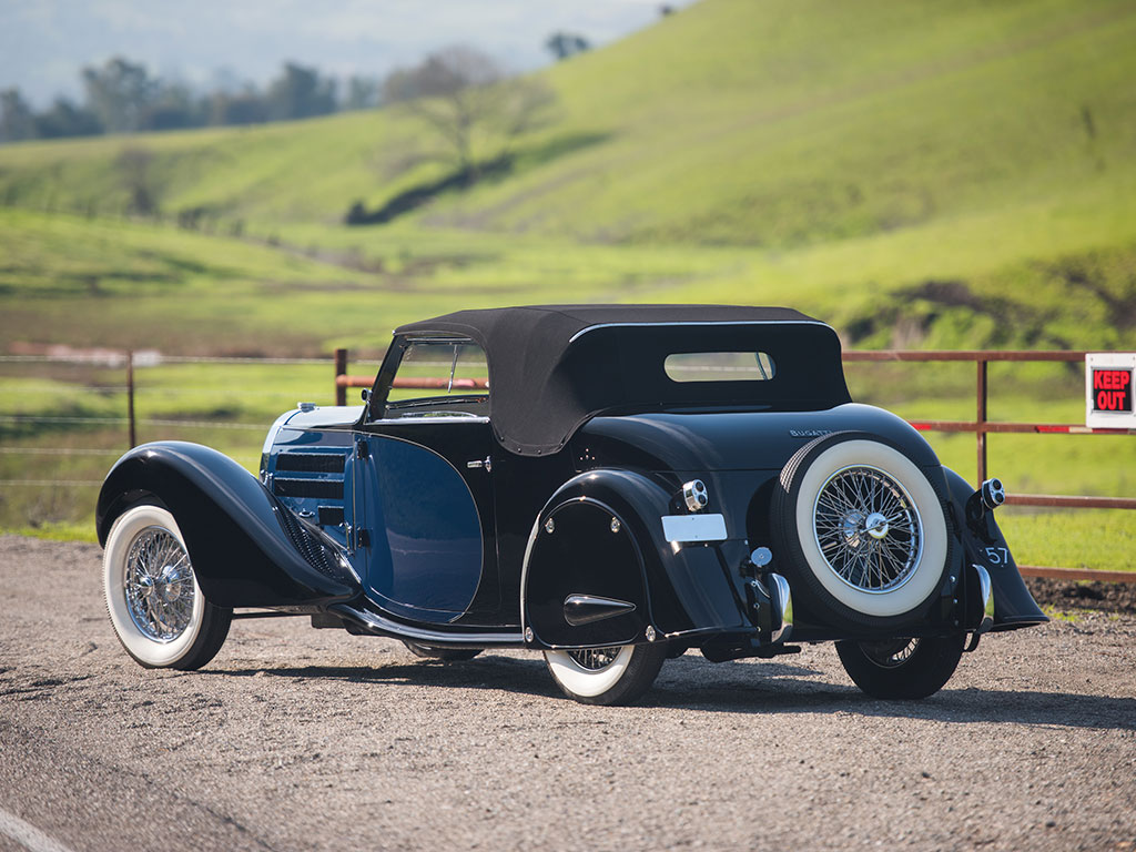 Evoking the style of the classic Bugattis of the twenties and thirties the Selvio is truly a classic Bugatti. (Picture courtesy RM Sotherby's).
