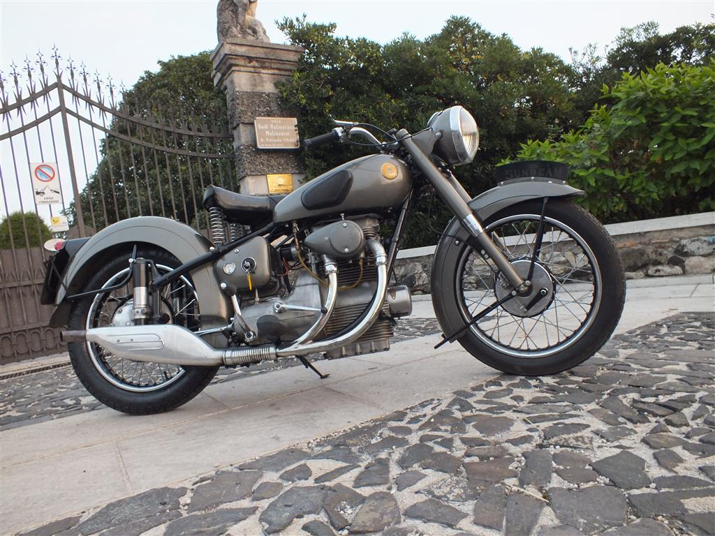 Sunbeam S8 with original two cylinder engine. (Picture courtesy italianclassicmotors.com).