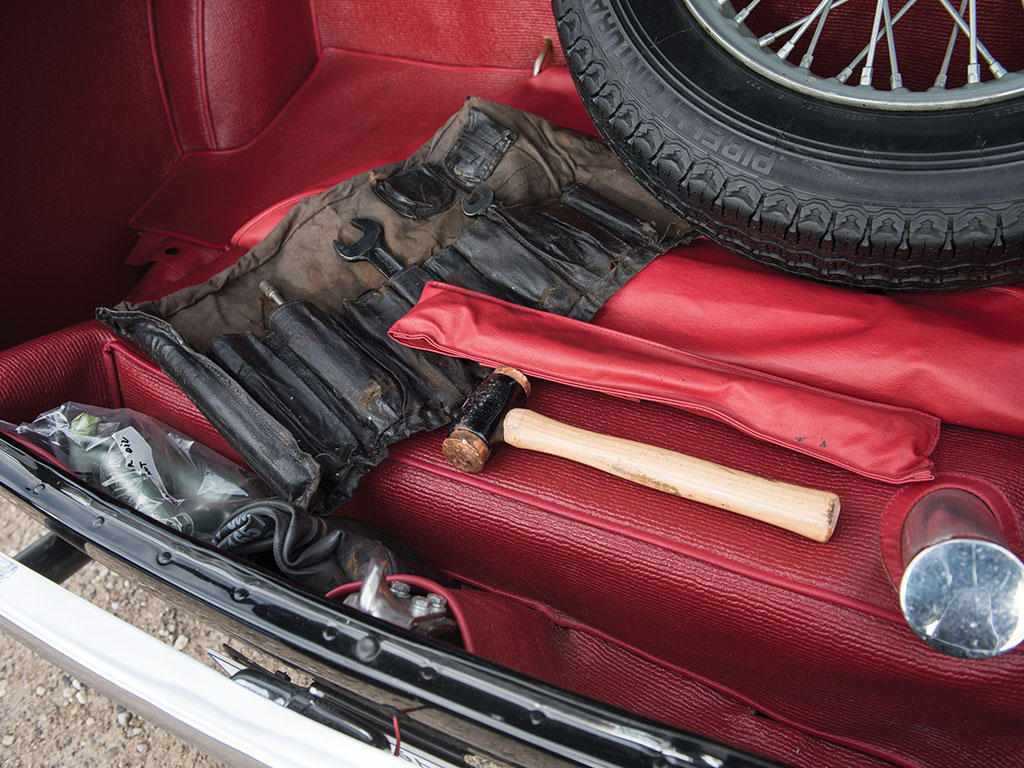 The car comes complete with original tools. (Picture courtesy RM Sotherby's).