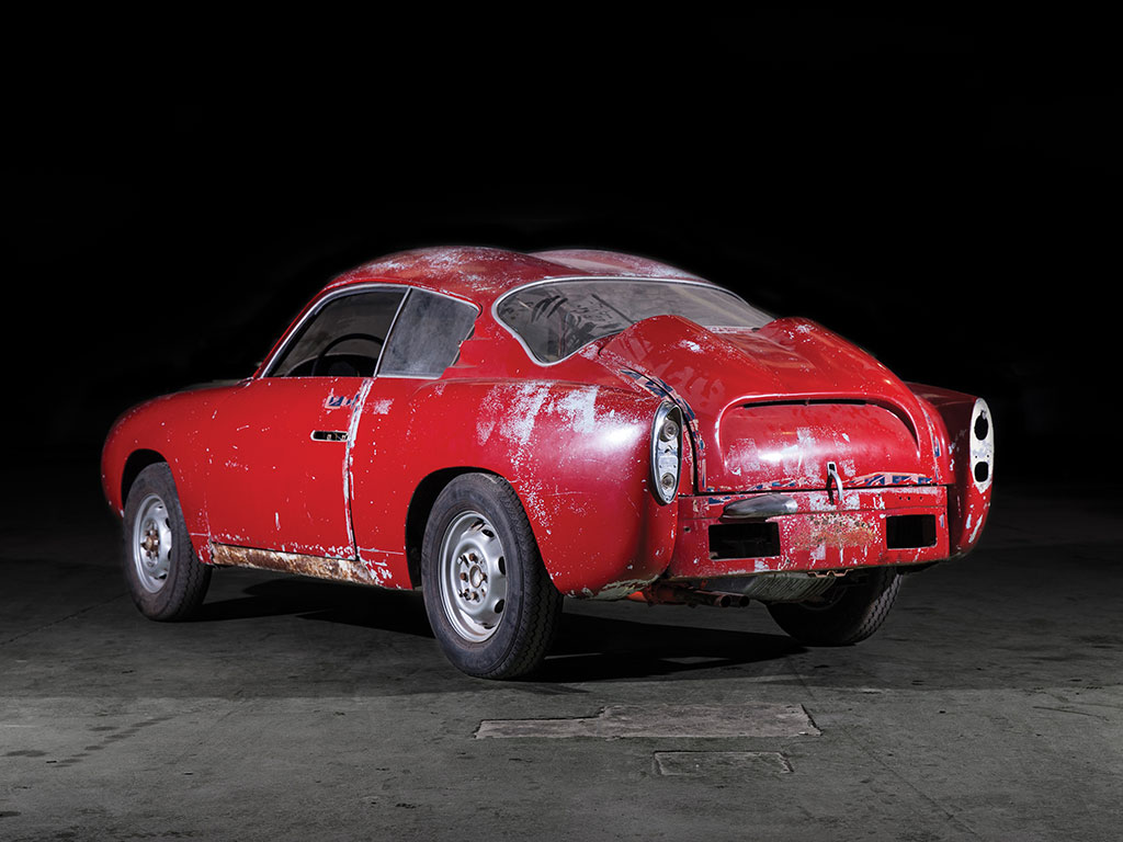 Despite the car's current condition the beauty of the Zagato design still shines. (Picture courtesy RM Sotherby's).