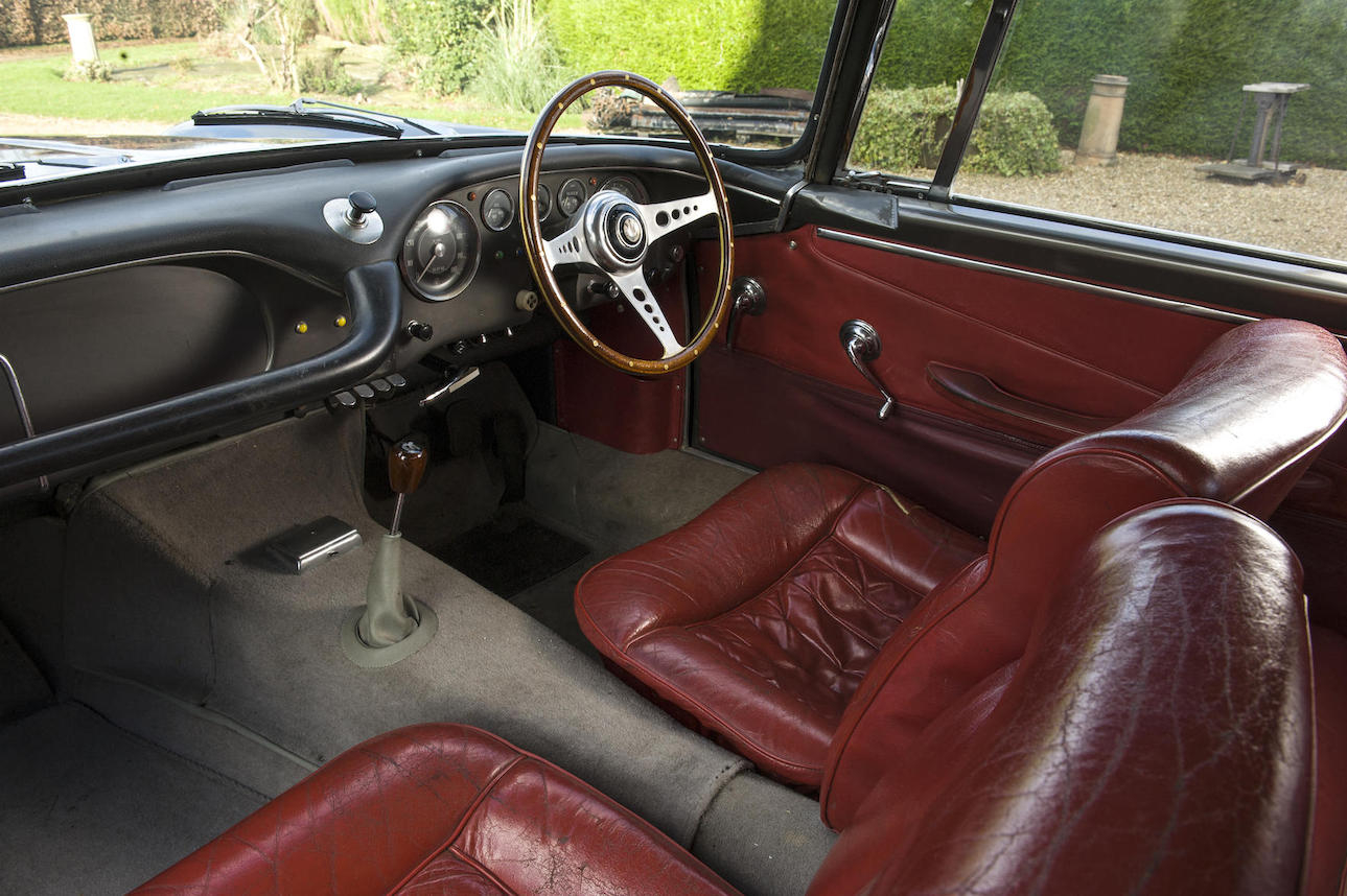 The interior of the 3500 GT is simply furnished yet exudes quality. (Picture courtesy Bonhams).