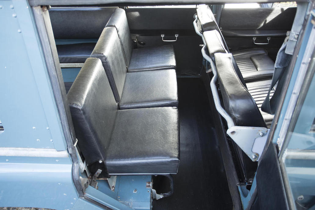 Rear seats are also quite comfortable even though they look a bit spartan. (Picture courtesy Bonhams).