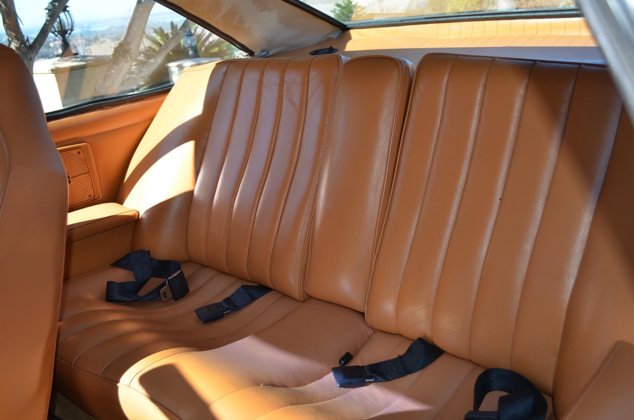 Seats and door trims look to be in excellent shape. Discolouration on roof lining is indicative of age and may need restoration. (Picture courtesy bringatrailer.com).