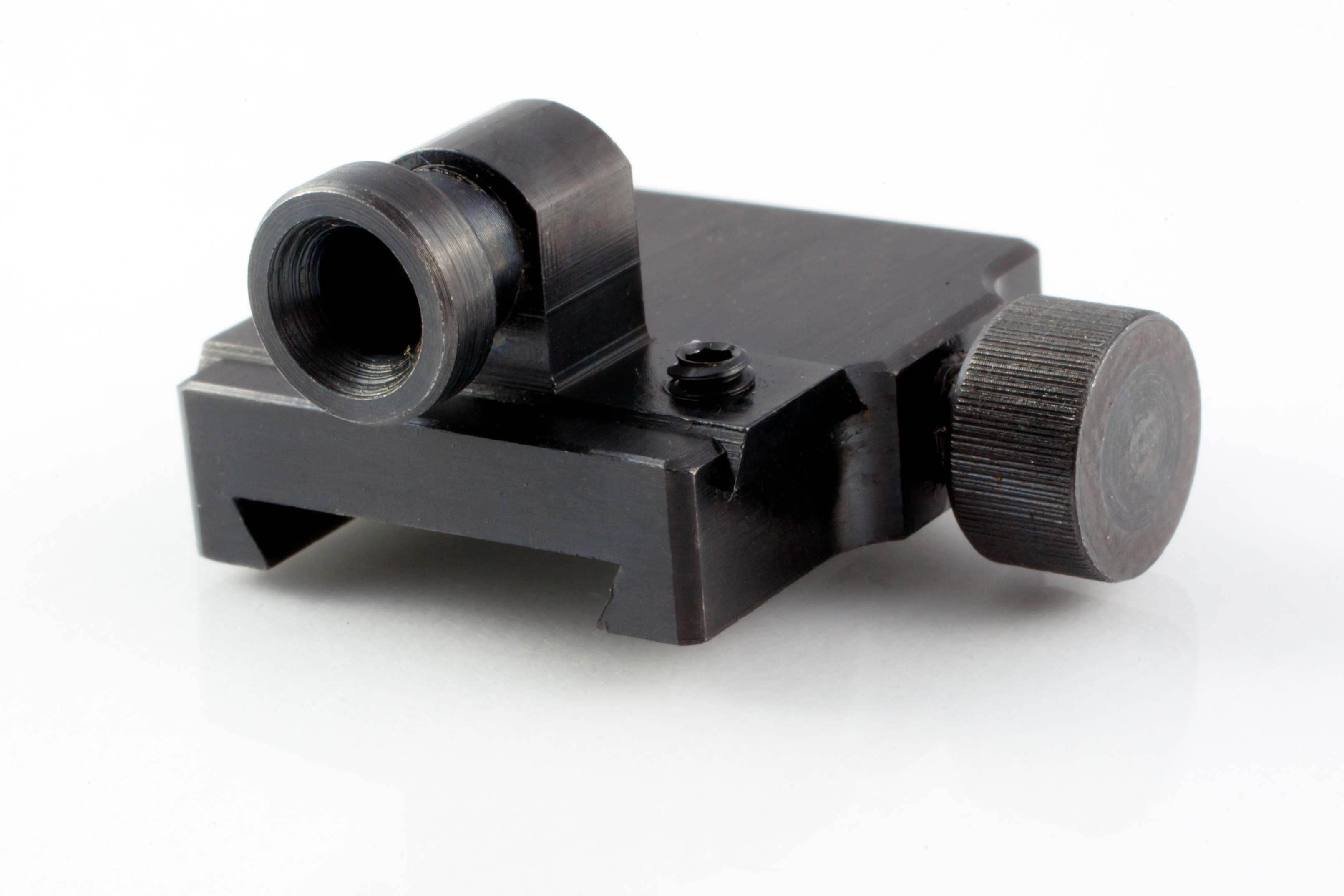 The Talley peep sight attaches to the rifle-scope base when the rifle-scope is detached. (Picture courtesy talleymanufacturing.com).