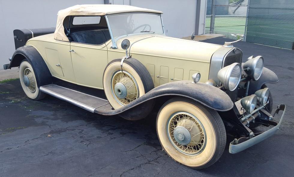 Cadillac V Roadster Model A X on 1931 Cadillac V8 Engine