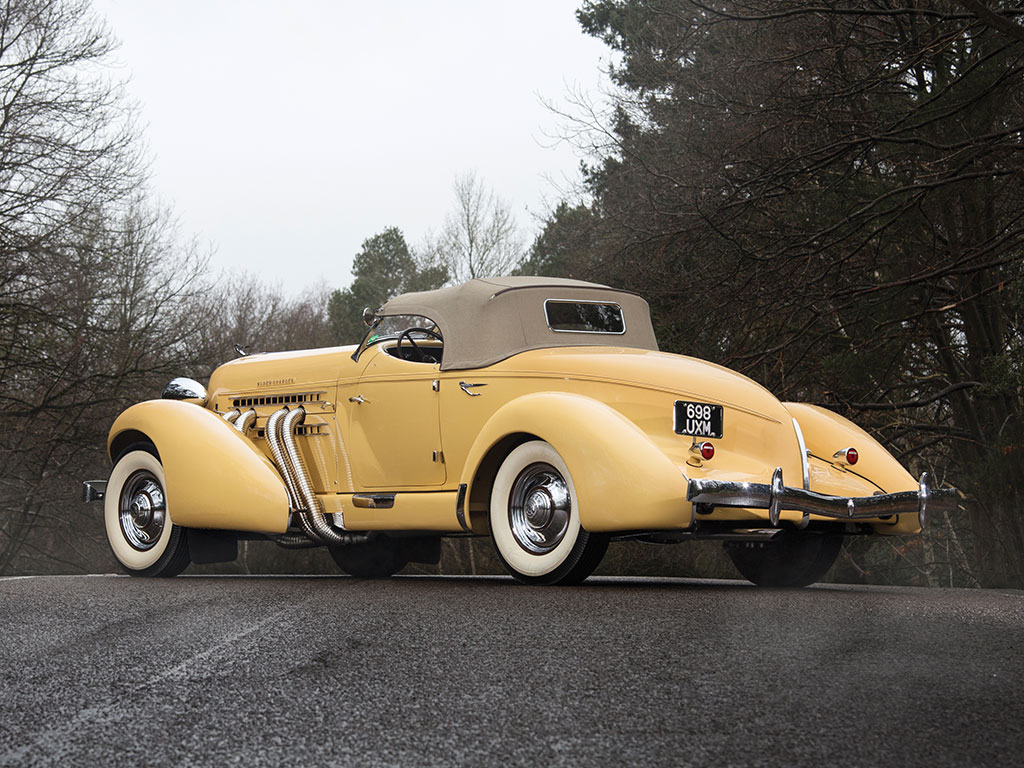When one looks at an Auburn Speedster it gives one the impression of speed and stability. (Picture courtesy RM Sotherby's).