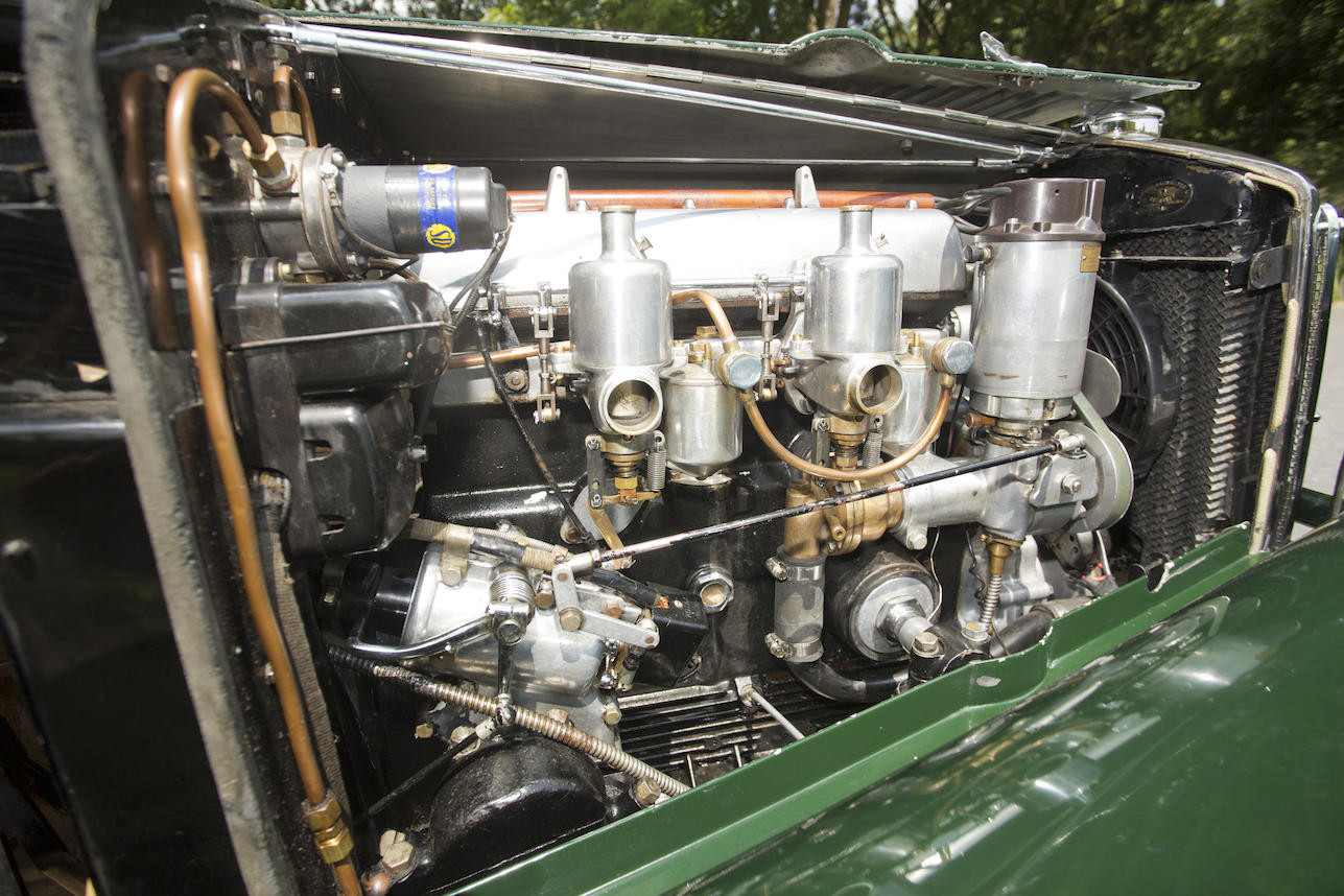 The 15/6 engine of the Rose design was most likely fitted by Jakob Waeny early in his ownership of the car. (Picture courtesy Bonhams).