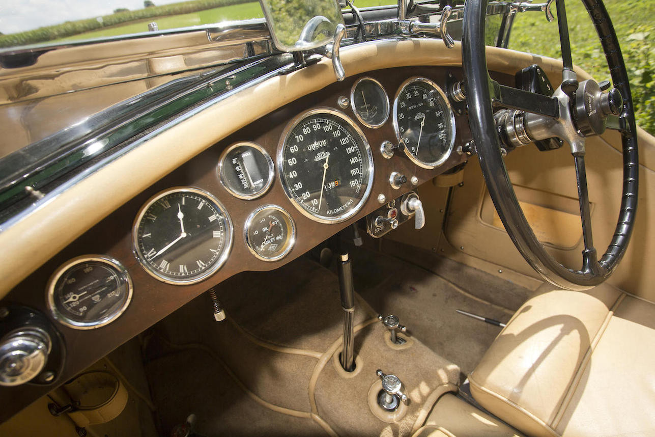 As the car was originally purchased by a person in Switzerland the speedometer is in kilometres per hour. (Picture courtesy Bonhams).