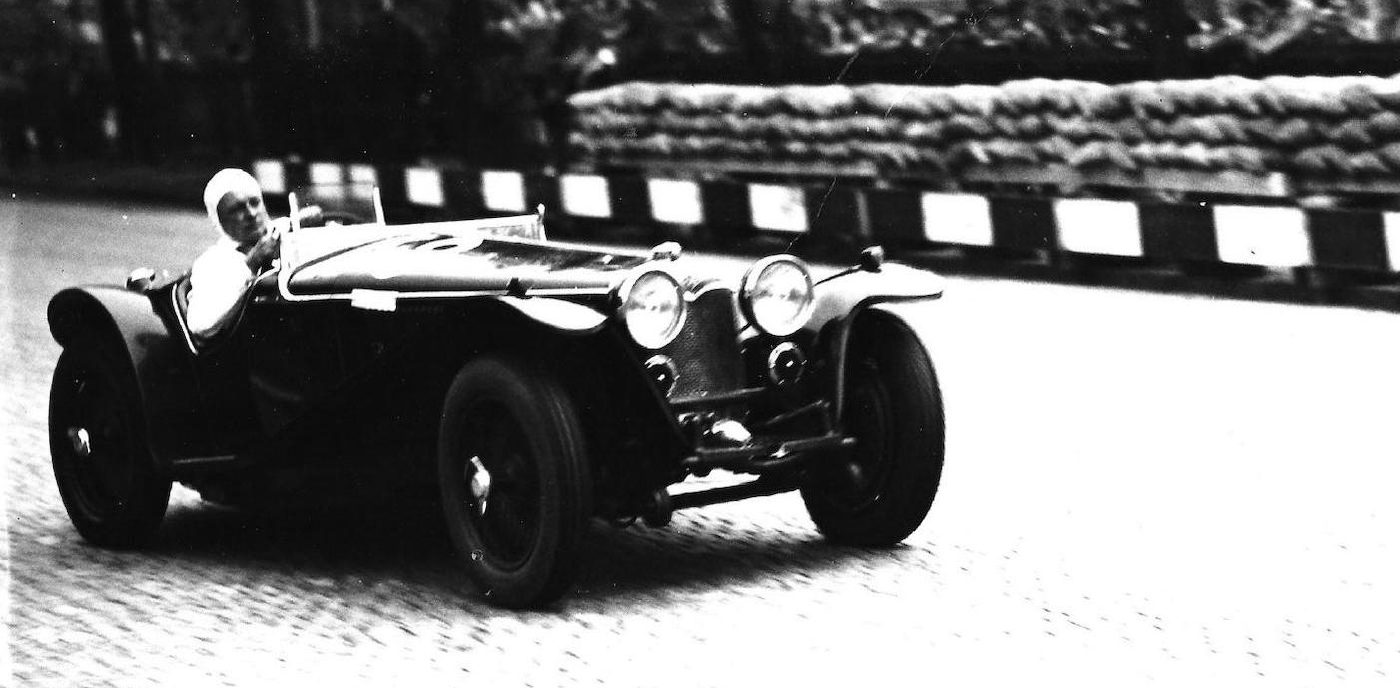 Jakob Waeny at the helm of this 1935 Riley MPH competing in the 1936 Preis von Bremgarten. (Picture courtesy Bonhams).