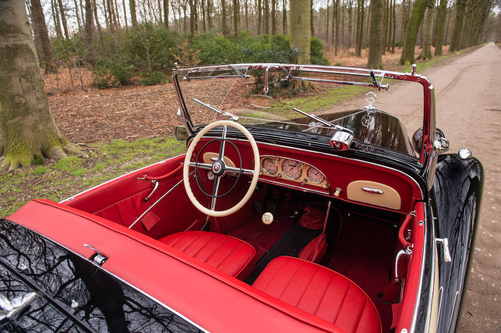 The interior of the Mercedes-Benz 170V is tasteful and almost opulent. (Picture courtesy Bonhams).