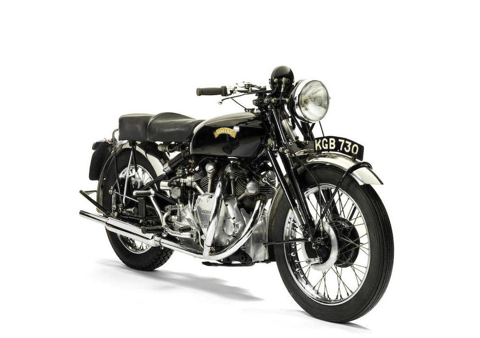 With its 45bhp the Vincent Rapide Series C was capable of a top speed over 100mph. (Picture courtesy Bonhams).