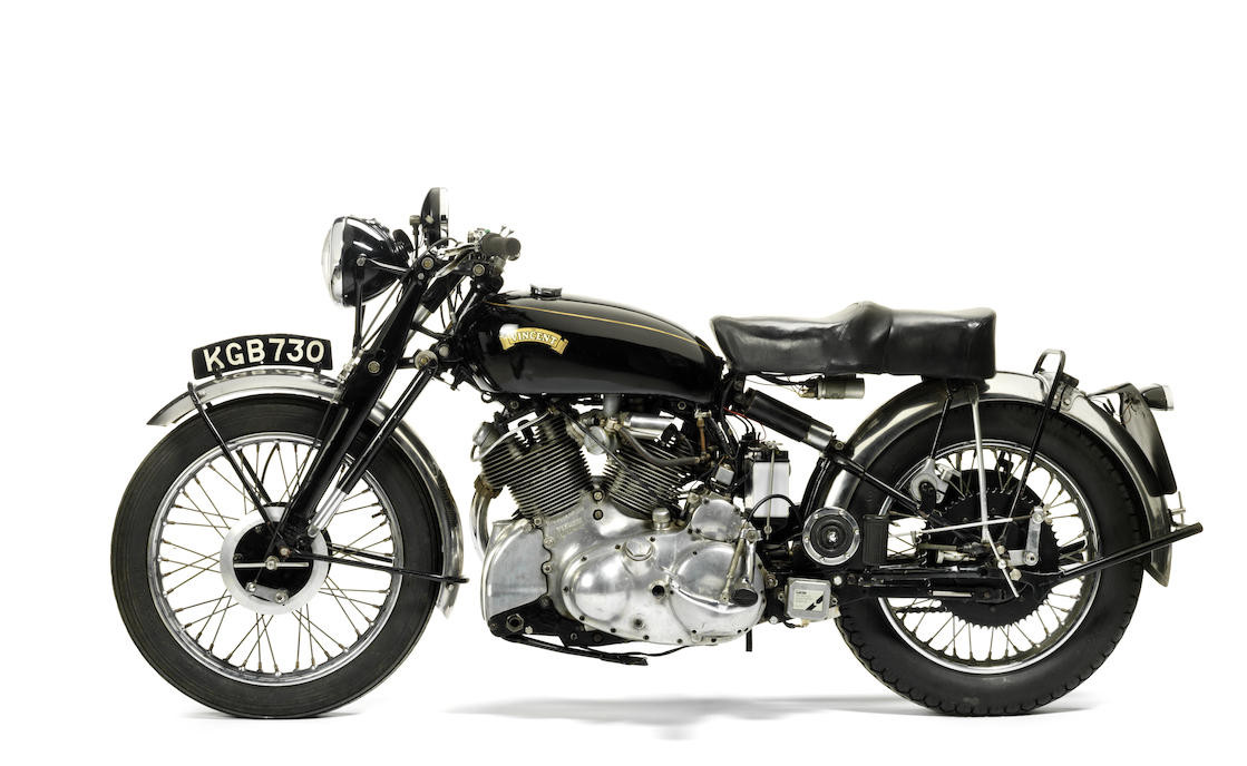 The Vincent Rapide was developed during World War II and released to the public whilst the war was still on-going. (Picture courtesy Bonhams).