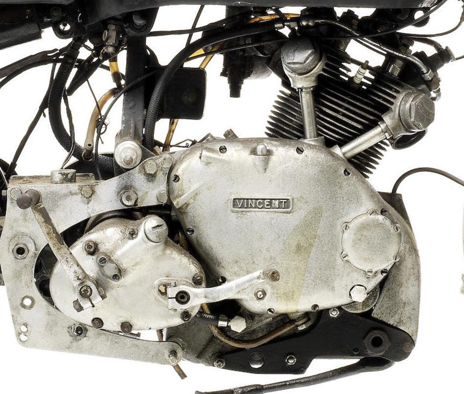 The 499cc Vincent Comet single cylinder engine. (Picture courtesy Bonhams).