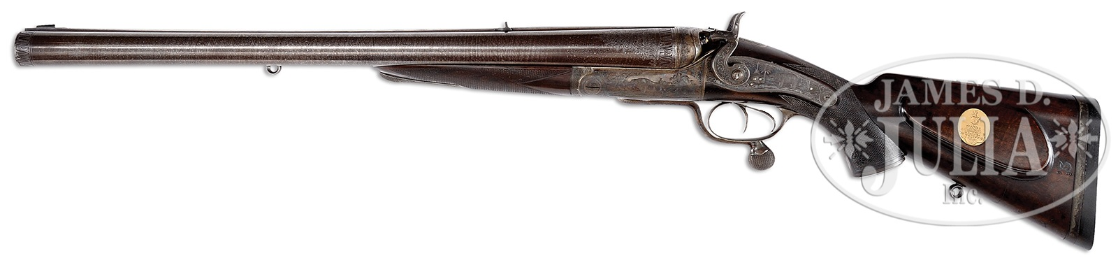 A four bore double rifle made by Holland and Holland of London for the Nizam of Hyderabad. (Picture courtesy James D. Julia Inc.).
