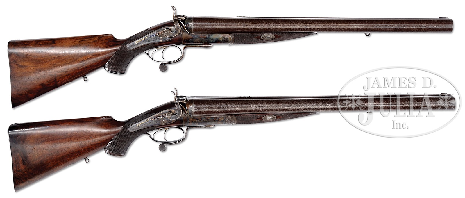 A pair of R.B. Rodda double rifles in four bore. (Picture courtesy James D. Julia Inc.).