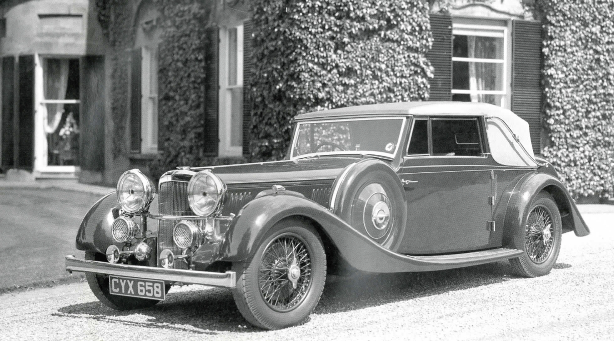 The original 1936 Alvis 4.3 Litre Olympia Motor Show exhibition car. Picture courtesy alvisarchive.com).