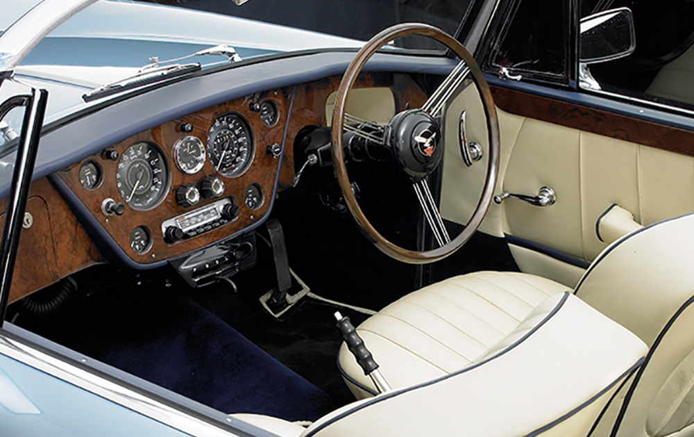 The interior of the new series cars is faithful to the 1930's originals. (Picture courtesy Alvis Car Company).