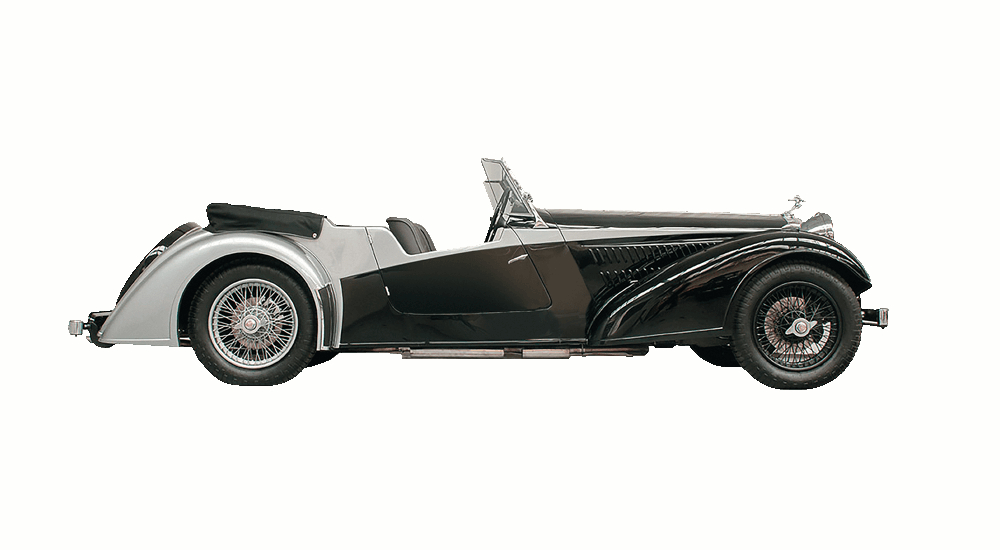 The Alvis Vanden Plas is a sports touring car in the best tradition of the pre-war Alvis cars. (Picture courtesy Alvis Car Company).