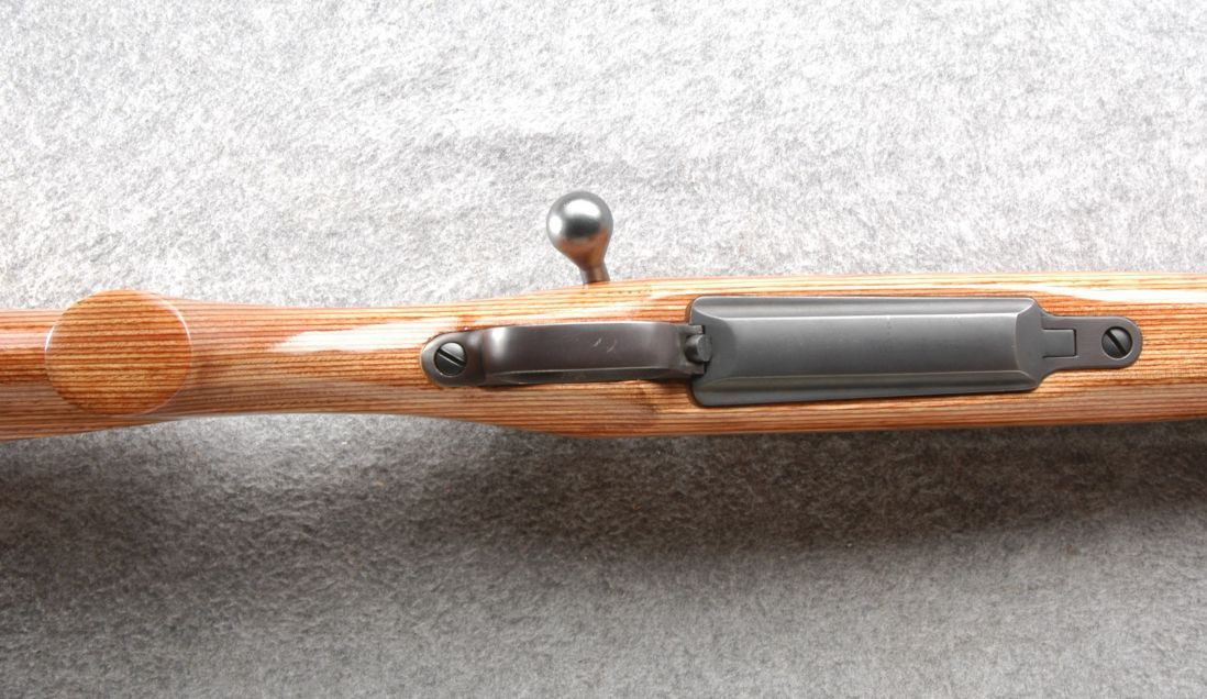 The laminated stock is intended to be superior to a standard wood stock for a rifle that is to be used in all weathers. (Picture courtesy Cabela's).